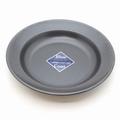 ブルーブラックコート 丸型カレー皿