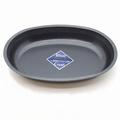 ブルーブラックコート 小判型カレー皿
