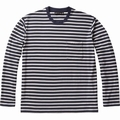 Mens LUXE LITE LS POCKET CREWE STRIPE