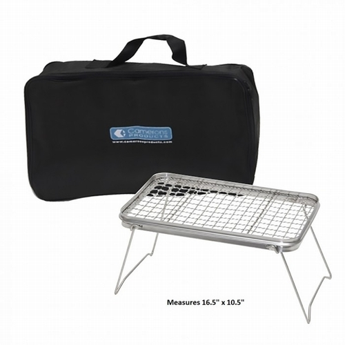 PORTABLE NON-STICK SCOUT GRILL WITH CARRYING BAG