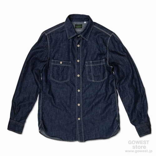 BASIC ACTIVE SHIRTS/ONE WASH (INDIGO)