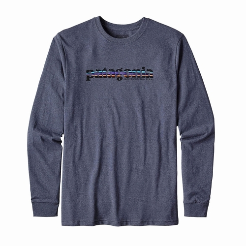 Ms L/S 73 Text Logo Cotton/Poly Responsibili-Tee -sj