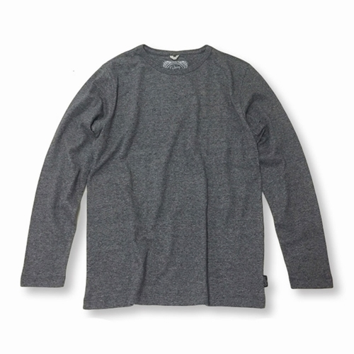 BASIC L/SL TEE/(TOP GRAY、BLACK HEATHER)