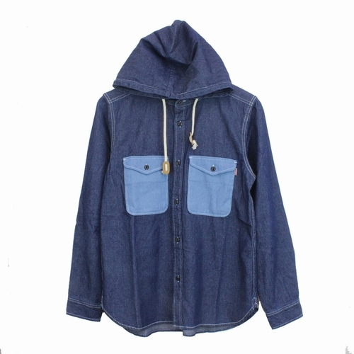 Denim CPO Hooded Shirt