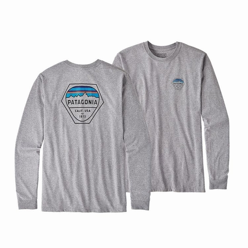 Ms L/S Fitz Roy Hex Cotton/Poly Responsibili-Tee