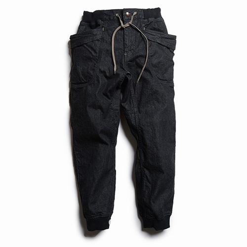 VENDOR RIB PANTS/ONE WASH (BLACK)
