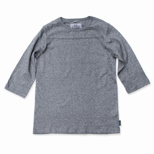 BASIC FOOTBALL TEE/(TOP GRAY、BLACK HEATHER)