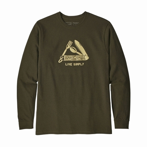 M's L/S Live Simply Pocketknife Responsibili-Tee