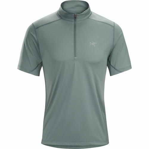 Accelero Comp Zip Neck SS Mens
